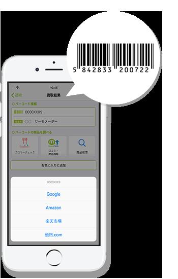 バーコードから商品検索