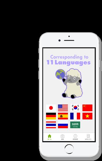 11ヶ国語に対応